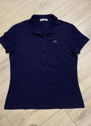 Lacoste, фирменная женская футболка, поло, р. s/m. оригинал.
