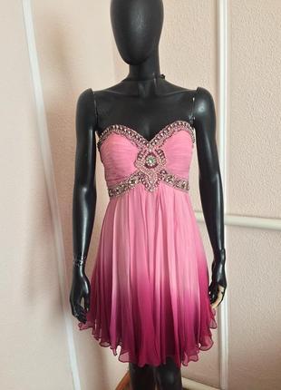 Нарядна сукня міді,красивое платье