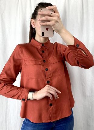 Крута стильна теракотова рубашка