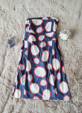 Милое летнее платье в горошек без шлеек