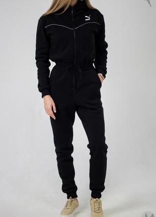 Трикотажный комбинезон puma xtg overall (черный)