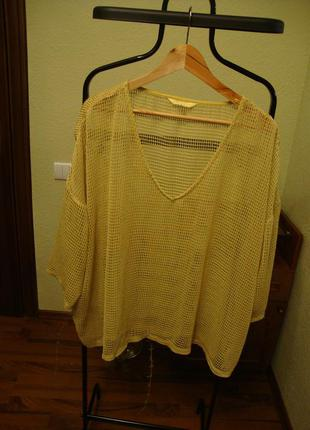Блуза, футболка - сетка  большой размер next