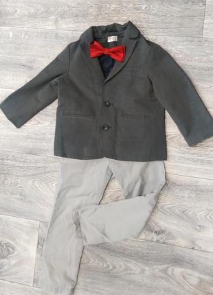 Стильный пиджак, жакет на мальчика f&f