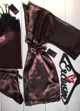 Женский набор, халат +пижама