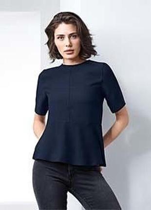 Блуза женская с воланом tcm tchibo германия размер 52