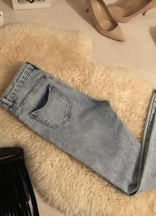 Крутые плотные джинсы резинки с высокой посадкой варёнка, р. 14/42...💄❤️💋