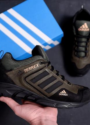 Мужские кроссовки из натуральной кожи adidas terrex