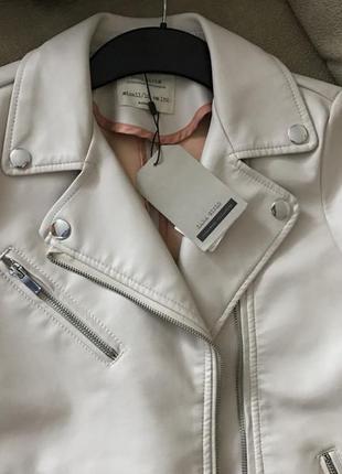 Кожаная куртка кожанка zara