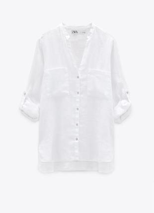 Рубашка льняная zara