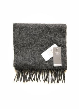 Новый шарф m&s шерсть 🖤