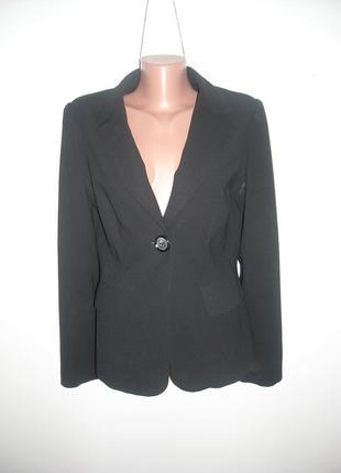 Пиджак черный collezione стильный