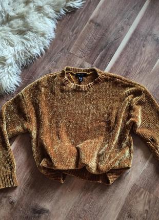 Плюшевый/велюровый свитер new look