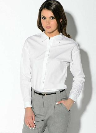 Белоснежная приталенная рубашка