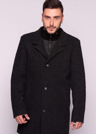 Мужское осеннее пальто темно-серое (46-54) danstar