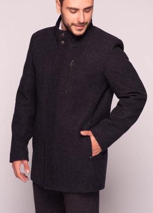 Мужское осеннее пальто темно-синее короткое (46-54) danstar