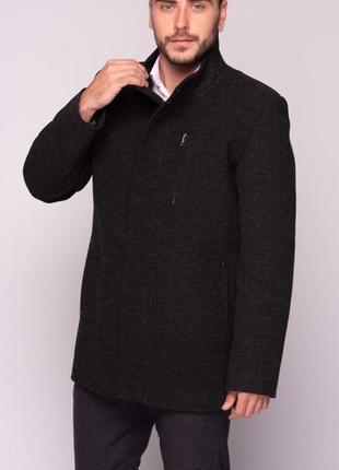 Мужское осеннее пальто темно-серое короткое (46-54) danstar