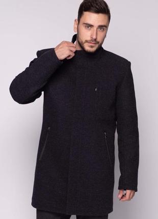 Мужское осеннее пальто темно-синее (46-54) danstar