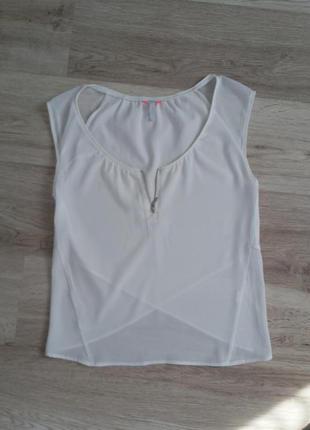 Шифоновая блуза с красивой спинкой на запах