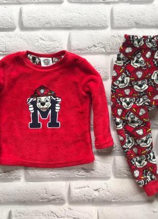 Matalan классная теплая пижама на мальчика 1,5-2 года