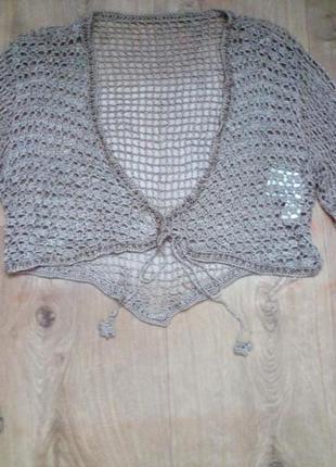 3 вещи на 100 грн красивое вязаное балеро.