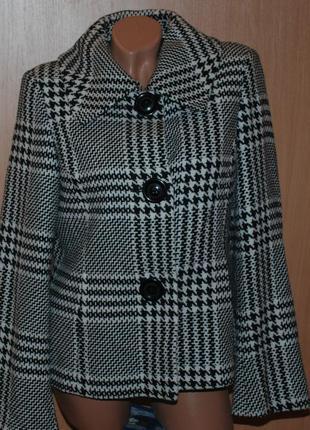 Пальто бренда john lewis  / 55%шерсть / укороченное, на подкладке /