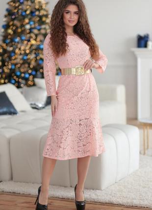 Женское гипюровое платье