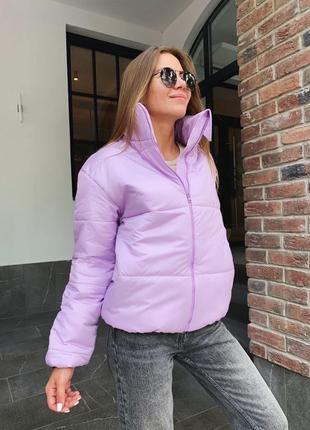 Куртка короткая зимняя объёмная с горловиной пуховик зефирка дутик оверсайз 2020