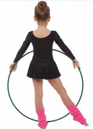 Купальник боди трико с юбкой  для гимнастики танцев балета