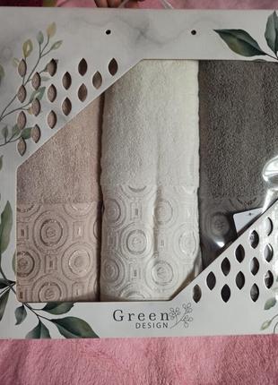 Набор банных махровых пушистых полотенец, рушники махрові банні