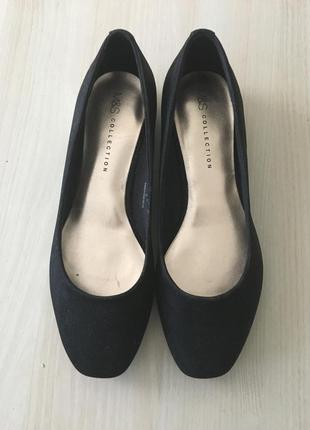 Новые балетки туфли на низком каблуке m&s