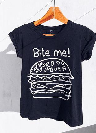 """Клевая футболка с надписью """"сьешь меня!"""" от sinsay"""