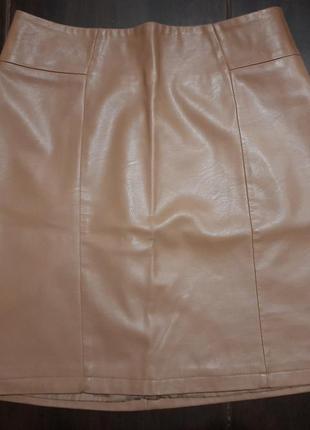 Кожаная юбка modis