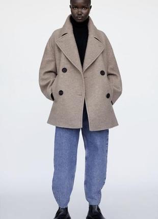 Стильне оверсайз пальто zara нова колекція