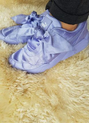 Женские кроссовки puma fenty by rihanna bow sneakers purple 365054-03