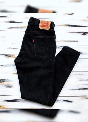 Levis черные джинсы