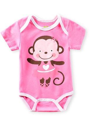 Боди для девочки обезьянка-балерина