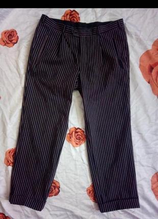 Брюки в вертикальную полоску штаны оригинал