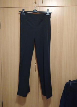 Классические черные брюки, деловой/офисный стиль, штаны