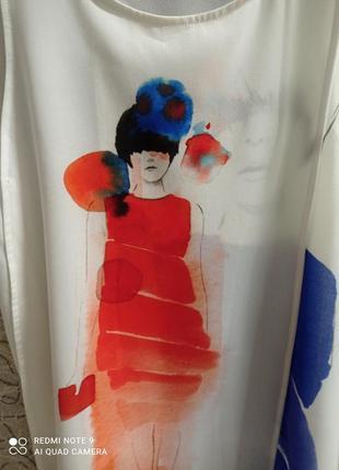 Шифоновая блузка майка