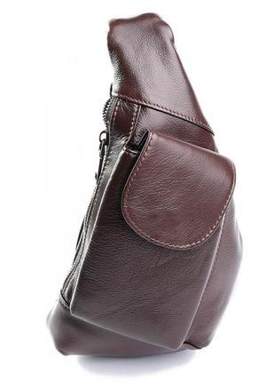 Крута чоловіча шкіряна сумка