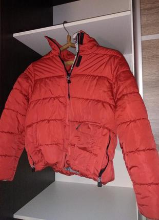 Курточка теплая ветровка пуховик дутик