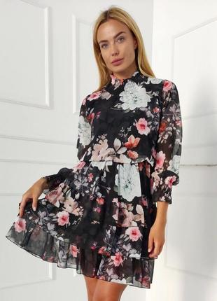 Нарядное платье турция люкс качество шифоновое
