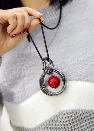 Цепочка кулон ожерелье новое