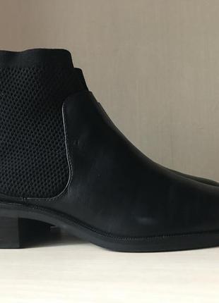 Сапоги zara basic collection оригинал челси ботинки