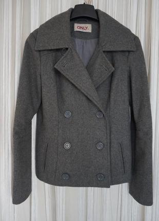 Куртка демисезонная косуха пальто шерсть only max mara woolmark