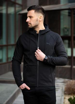 Мужская демисезонная ветровка куртка puma soft shell black