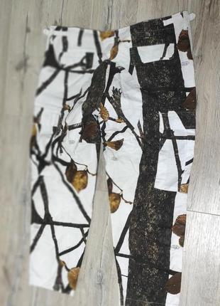 Штаны камуфляжые, зимний лес