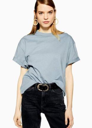 Голубая оверсайз футболка topshop
