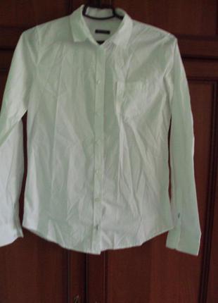 Рубашка-блуза для офиса белоснежная