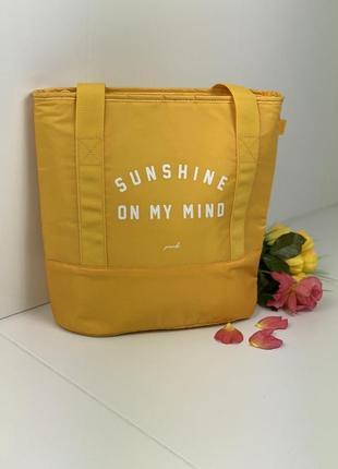 Пляжна-термо сумка victoria's secret pink